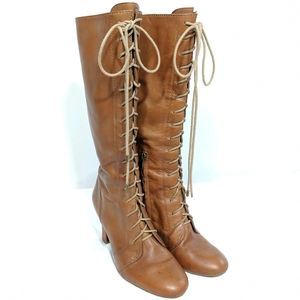 Banana Republic Tall Caramel Lace-up Boots